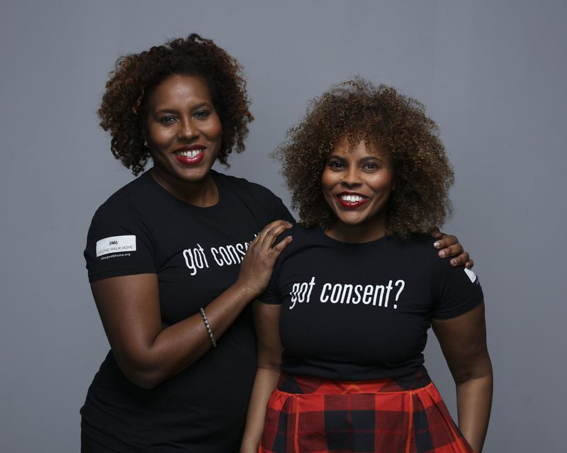 Sisters Salamishah Tillet, left, and Scheherazade Tillet have been fighting for decades to end violence against Black women and girls. (Anthony Alvarez/Shine Portrait Studio)